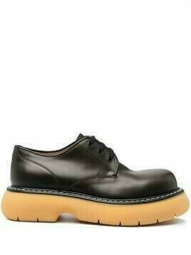 Bottega Veneta The Bounce lace-up shoes - Brown