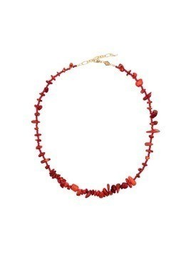 Anni Lu stone beaded necklace - Red