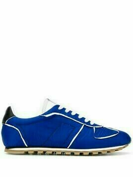 Maison Margiela contrasting-trim low-top sneakers - Blue