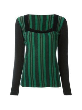 Jean Paul Gaultier Vintage striped sweater - Black