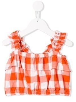 Bobo Choses plaid cropped top - Orange