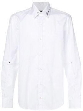 Icosae embroidery detail shirt - White