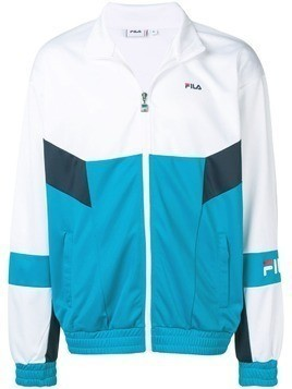Fila colour block sport jacket - White