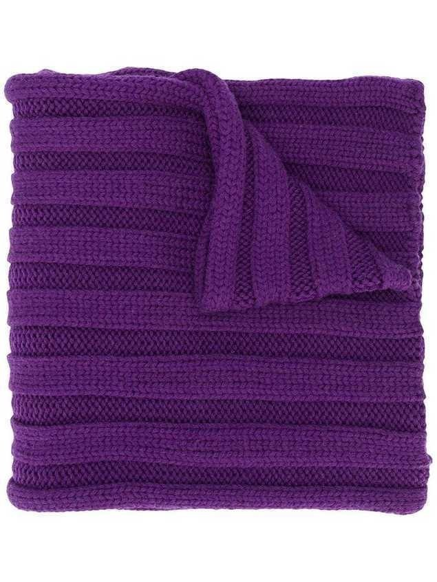 Escada Sport ribbed knit scarf - Purple