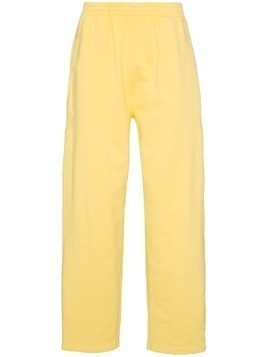 Jacquemus elasticated waist cotton track pants - Yellow