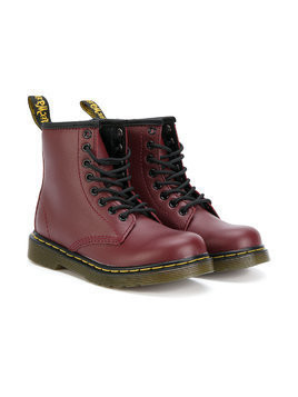 Dr. Martens Kids combat boots - Red