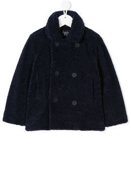 Il Gufo double breasted coat - Blue