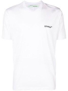Off-White logo embroidered T-shirt