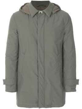Kired zipped fitted coat - Green