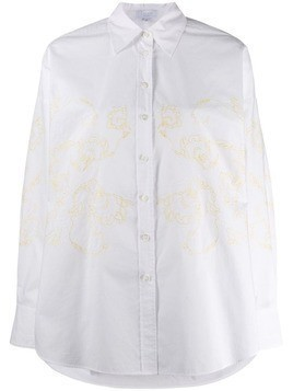 Escada Sport oversized embroidered shirt - White
