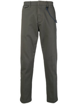 Closed rope trim trousers - Grey