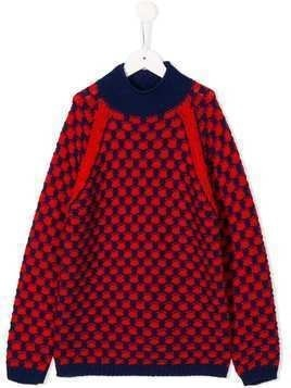 Gucci Kids roll neck jumper - Red