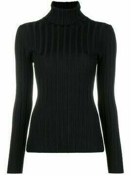 Aspesi stretch fitted top - Black