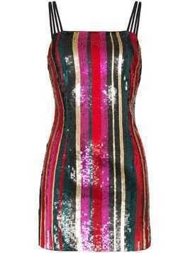 Haney Elektra sequin-stripe mini dress - Multicolour