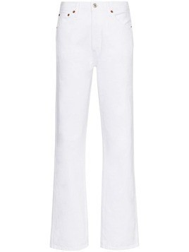 Re/Done high-rise straight-leg jeans - White