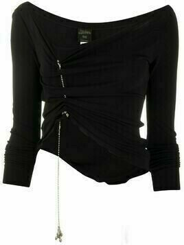 Jean Paul Gaultier Pre-Owned hanging charm gathered blouse - Black