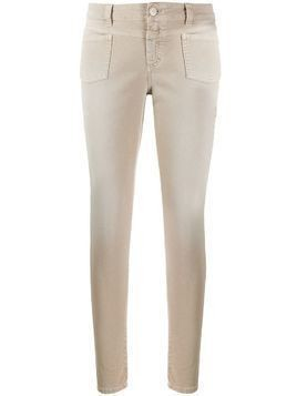 Closed low rise skinny trousers - Neutrals