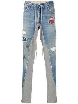 Greg Lauren Denim Sweater Long trousers - Blue