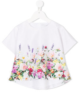 Love Made Love floral print embellished top - White
