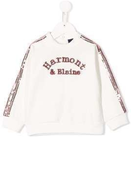 Harmont & Blaine Junior embroidered logo sweatshirt - White