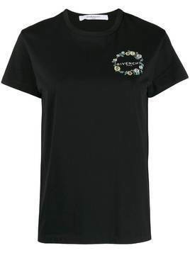 Givenchy floral logo T-shirt - Black
