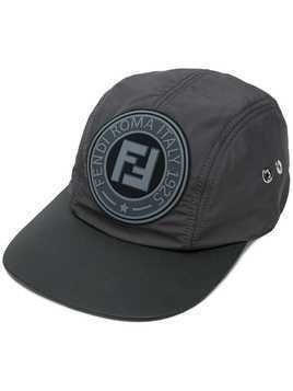 Fendi logo patch baseball cap - Grey