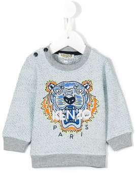 Kenzo Kids embroidered logo sweatshirt - Blue