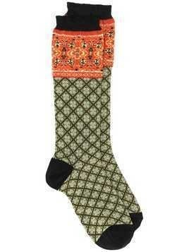 Etro printed ankle socks - Green