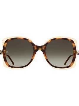 Elie Saab square tinted sunglasses - Brown