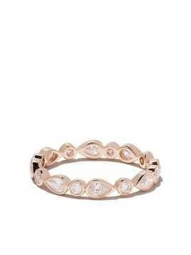 De Beers 18kt rose gold Petal diamond band