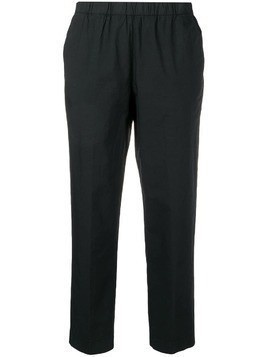 Kiltie cropped tailored trousers - Black