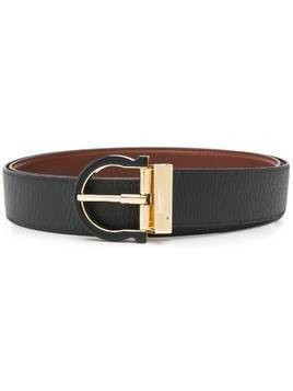 Salvatore Ferragamo Gancini buckle belt - Black
