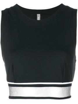 No Ka' Oi banded crop top - Black