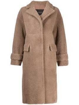 Blancha shearling coat - Neutrals