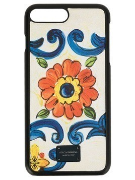 Dolce & Gabbana floral print iPhone case - White