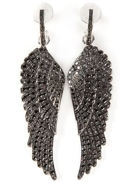 Garrard diamond wing earrings - Black