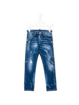 Dsquared2 Kids distressed denim jeans - Blue