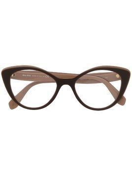 Miu Miu Eyewear cat-eye frame glasses - Brown