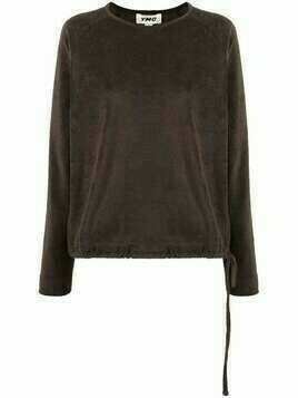 YMC drawstring hem sweatshirt - Green