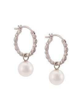 Cathy Waterman pearl seed hoop earrings - White