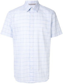 Gieves & Hawkes checked shirt - Blue