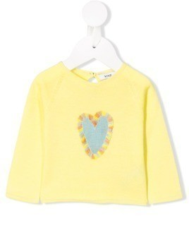 Knot heart fringed jumper - Yellow