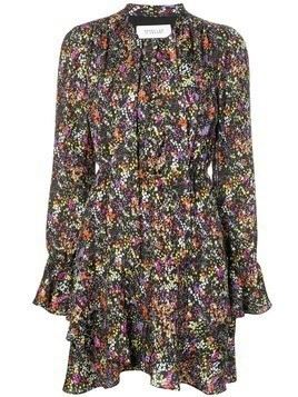 Derek Lam 10 Crosby long-sleeved floral dress - Black