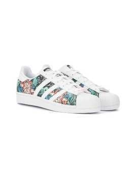 Adidas Kids Superstar tropical-inspired sneakers - Multicolour