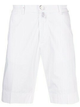 Kiton knee-length chino shorts - White