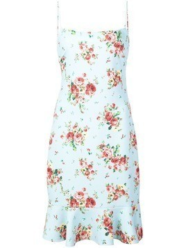 Likely floral print slip dress - Blue