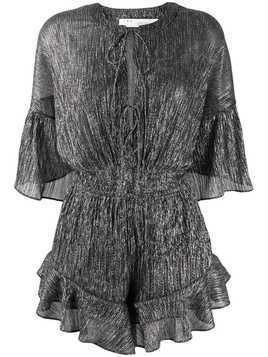 Iro ruffle trim playsuit - Silver