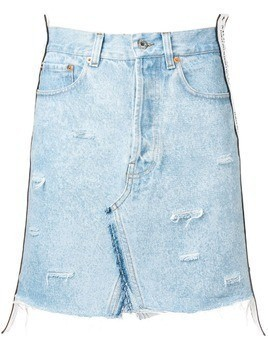 Forte Dei Marmi Couture distressed denim skirt - Blue