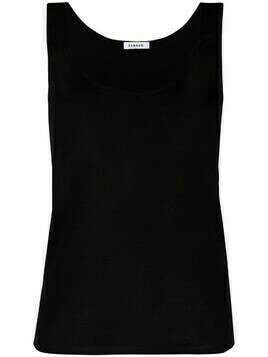 P.A.R.O.S.H. U-neck knitted vest - Black