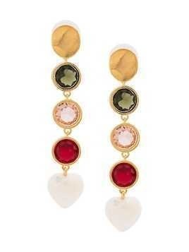 Lizzie Fortunato Jewels Nonna link drop heart earrings - Multicolour